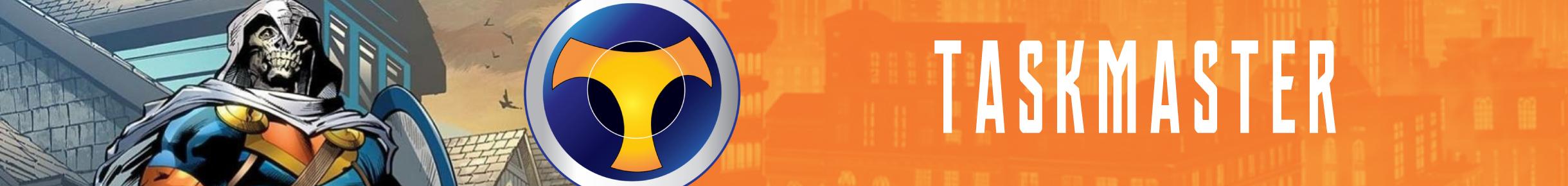 Taskmaster Merchandise Banner